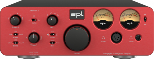 SPL Phonitor x + DAC768xs red